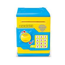 Дитяча скарбничка/сейф MK 3916 з купюропріємником (Жовтий)