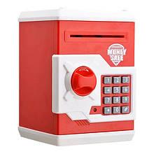 Детская копилка/сейф MK 3916 с купюроприемником (Красный)