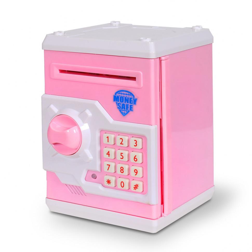 Детская копилка/сейф MK 3916 с купюроприемником (Розовый)