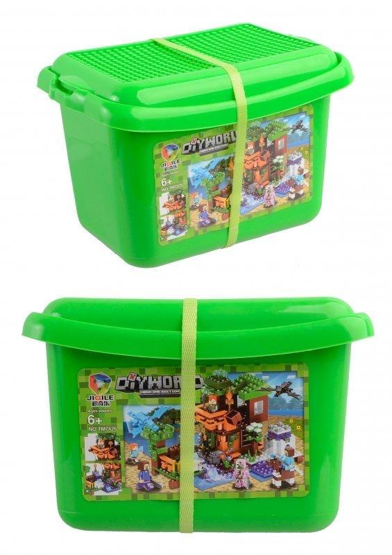 """Конструктор Minecraft (аналог) """"Дом у ручья"""" в пластиковом боксе арт. 7426"""