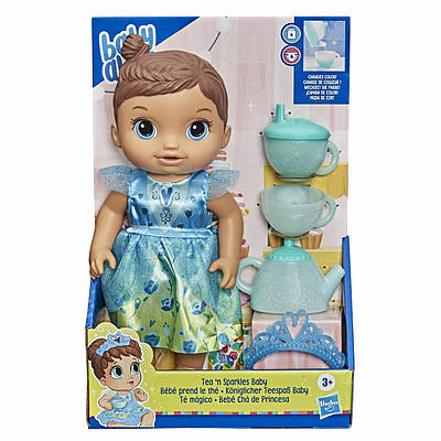 Кукла пупс baby alive tea n sparkles doll набор чайный сервиз