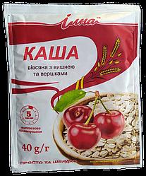 Каша вівсяна з вишнею та вершками 40 р. пакетик, ТМ Илна