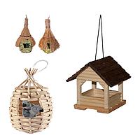 Гнізда, будиночки для птахів
