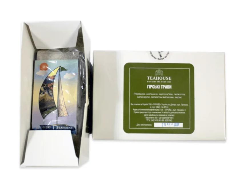 Чай Teahouse (Тиахаус) Горные травы пакетированный 20*3г (Tea Teahouse Mountain herbs packed 20*3г)
