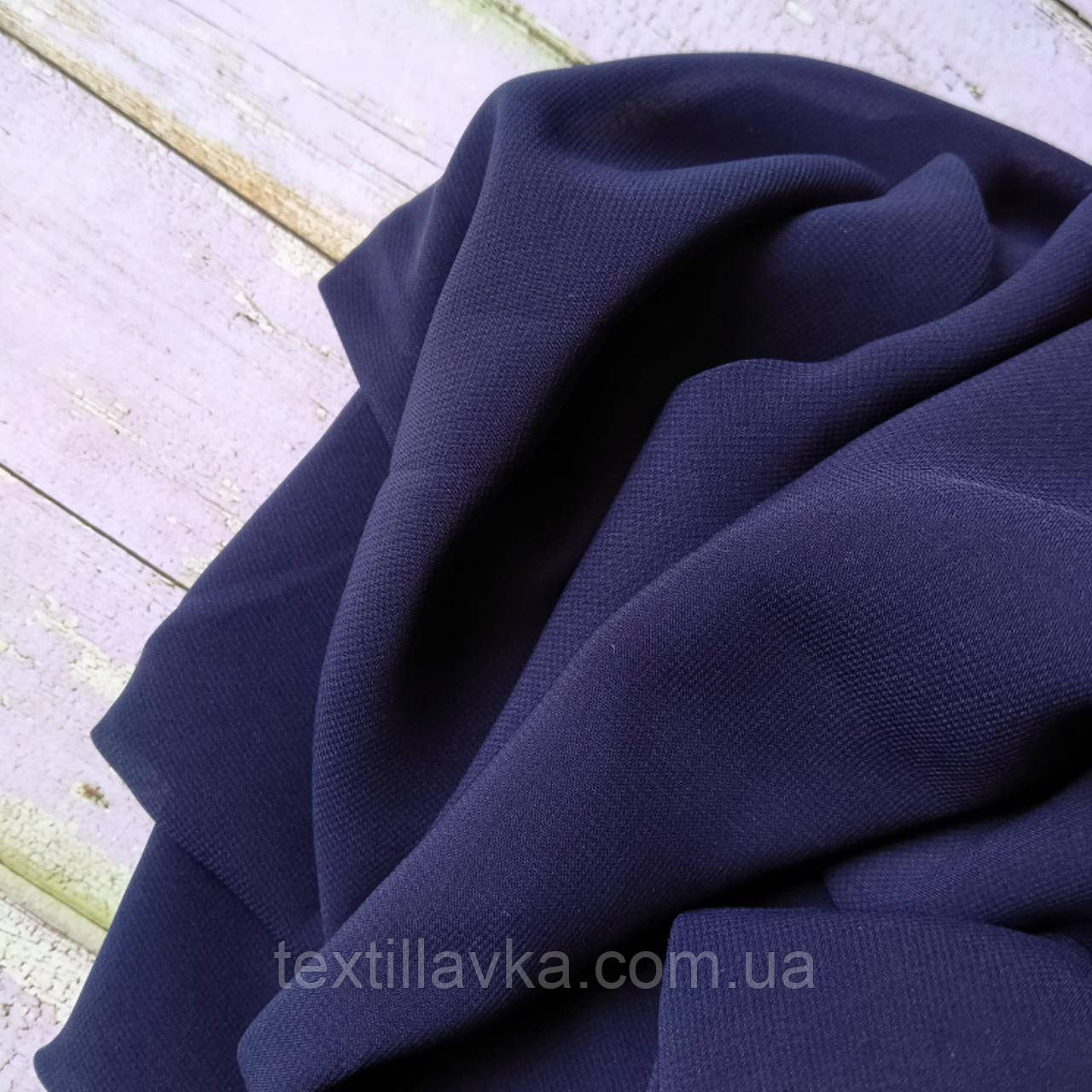 Тканина шифон Винди темно-синій