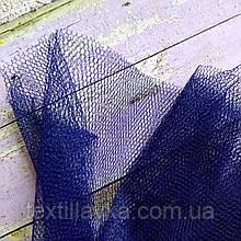 Ткань фатин жесткий темно-синий