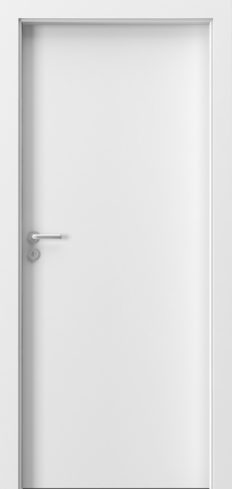 Porta Minimax глухое белое дверное полотно межкомнатной двери в белом цвете Польша