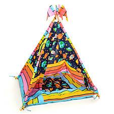 Детский вигвам шалаш игровая палатка для дома домик для детей Kospa Космос, фото 2