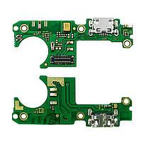 Шлейф - плата зарядки для Nokia 3.1 Plus, коннектора зарядки с микрофоном, оригинал
