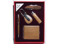 Подарочный набор (зажигалка + ручка + брелок + нож + портсигар)