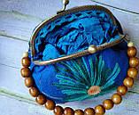 Текстильна сумка з вишивкою застібка фермуар, фото 2