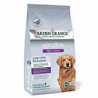 Arden Grange Sensitive light/senior ocean white fish/potato Корм сухой для  собак с избыточным весом 2 кг