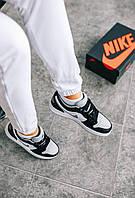 Женская обувь черно-белого цвета Найк Аир Джордан Ретро. Кожаные кроссовки Nike Air Jordan Retro 1 для девушек