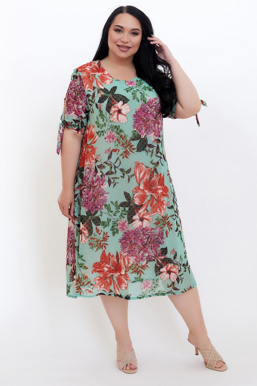 Платье ТМ ALL POSA Нина зелёный 50 (100639)