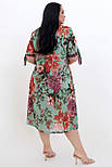 Платье ТМ ALL POSA Нина зелёный 50 (100639), фото 2