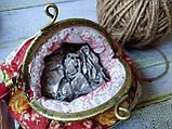 Текстильная сумочка с бронзовым фермуаром, фото 3