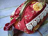 Текстильная сумочка с бронзовым фермуаром, фото 2