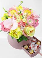 """Букет из конфет в коробке """"Цветущий луг""""№11+7"""
