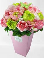 """Букет из конфет в высокой розовой коробке """"Вирджиния""""№25"""