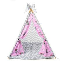 Детский вигвам шалаш игровая палатка для дома домик для детей Kospa Медведи Rose