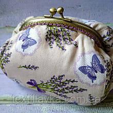 Текстильная сумочка с бронзовым фермуаром Прованс