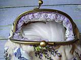 Текстильна сумочка з бронзовим фермуаром Прованс, фото 2