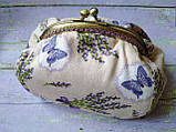 Текстильна сумочка з бронзовим фермуаром Прованс, фото 4