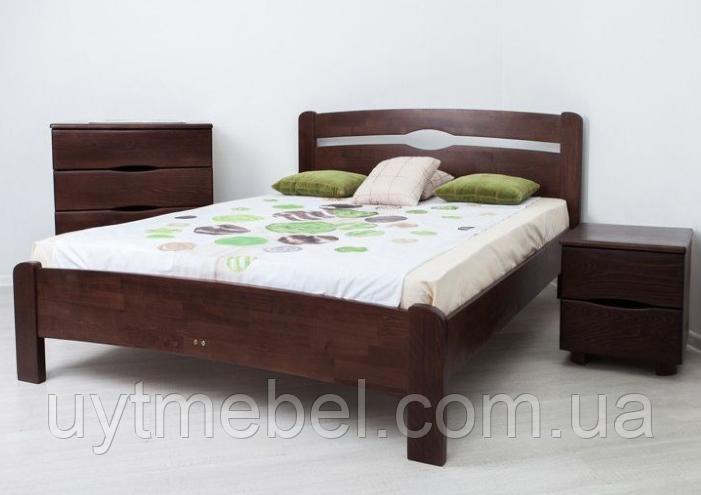 Ліжко Нова 1600х2000 без ізніжжя венге (Олімп)