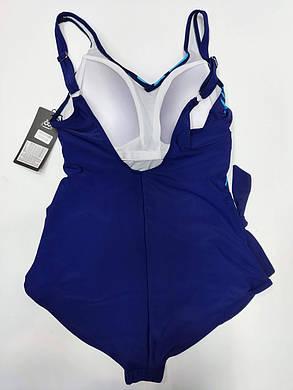 Сдельный купальник для полных Fuba 21024 синий на 54 56 58 60 62 размер, фото 2