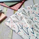 Ткань хлопок веточки и листочки, фото 2