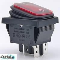 Вологостійкий - кулісний вимикач 250 В 16A IP65 ON-OF з червоним підсвічуванням приладової панелі автомобілів