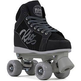 Детские роликовые коньки Rio Roller Lumina 32 black-grey