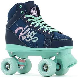 Детские роликовые коньки Rio Roller Lumina 33 navy-green