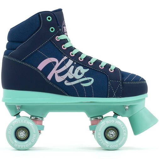 Детские роликовые коньки Rio Roller Lumina 33 navy-green, фото 2