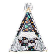 Детский вигвам шалаш игровая палатка для дома домик для детей Kospa Звёзды