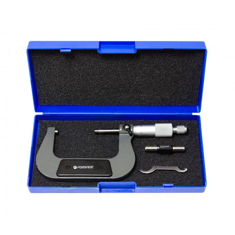 Микрометр (50-75мм, 0.01мм), в пластиковом футляре