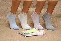 Жіночі шкарпетки короткі в сіточку Ф3 36-40 пастель асорті гумка люрекс сітка