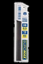 Стрижні для механічного олівця, HB, 0,5 мм, 12 шт