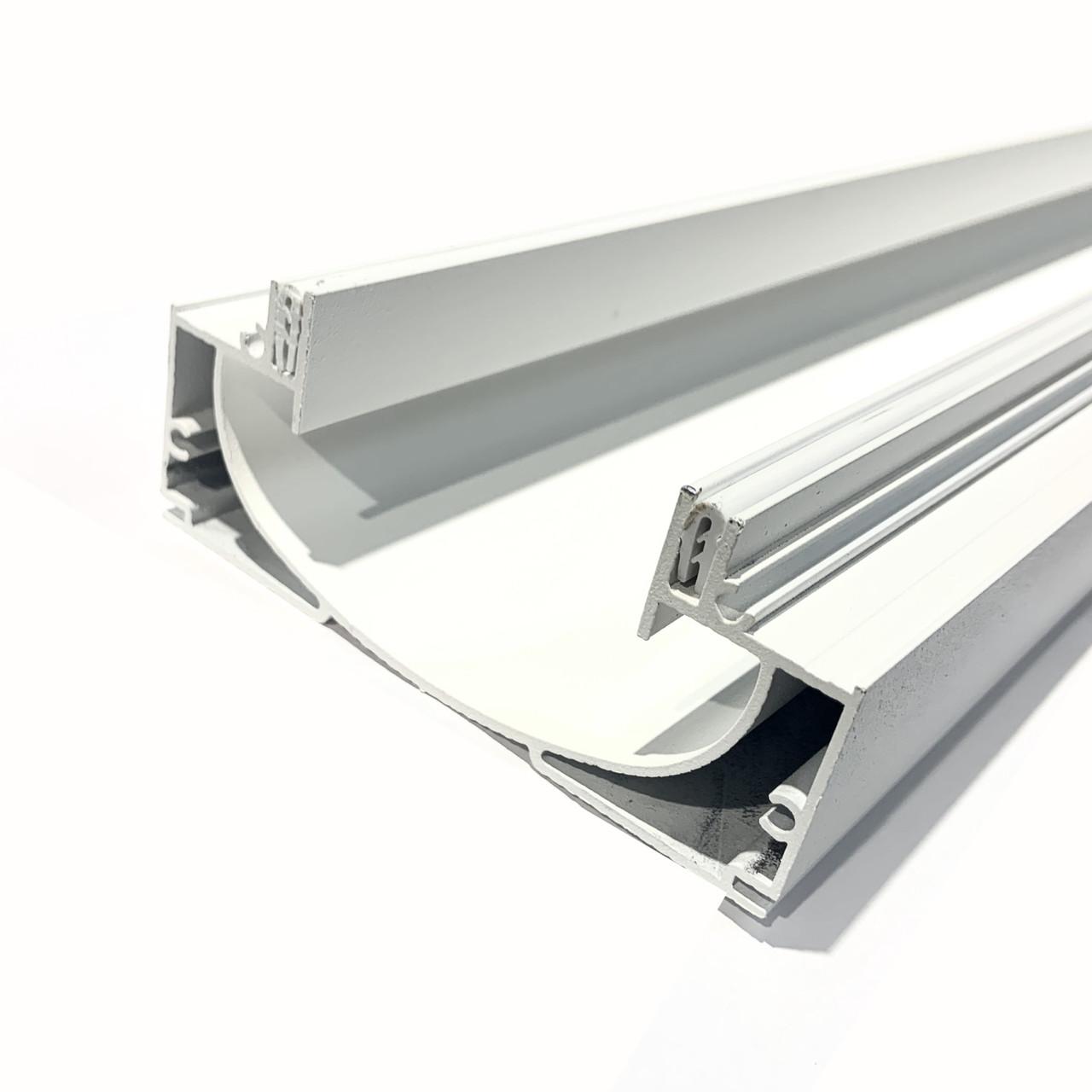 Профіль алюмінієвий для натяжних стель - світлові лінії SLOTT ніша(БІЛИЙ)