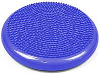 Балансировочная подушка массажная синяя