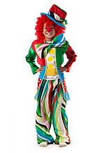 Клоун рыжий детский карнавальный костюм Размер 120-130 \ MS - ПР-1206-402