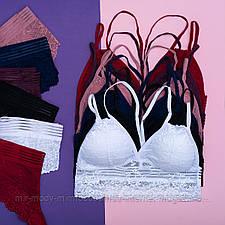 Комплект белья кружевной  черный RUMU из бралетта и слипов  S/M, L/XL арт К826_ (бт)