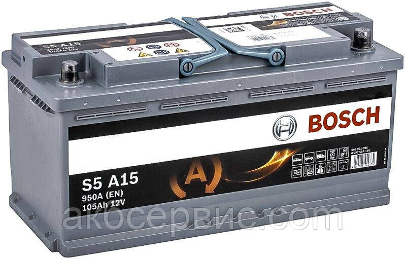 Аккумулятор автомобильный Bosch 6СТ-105 S5A AGM (S5 A15)