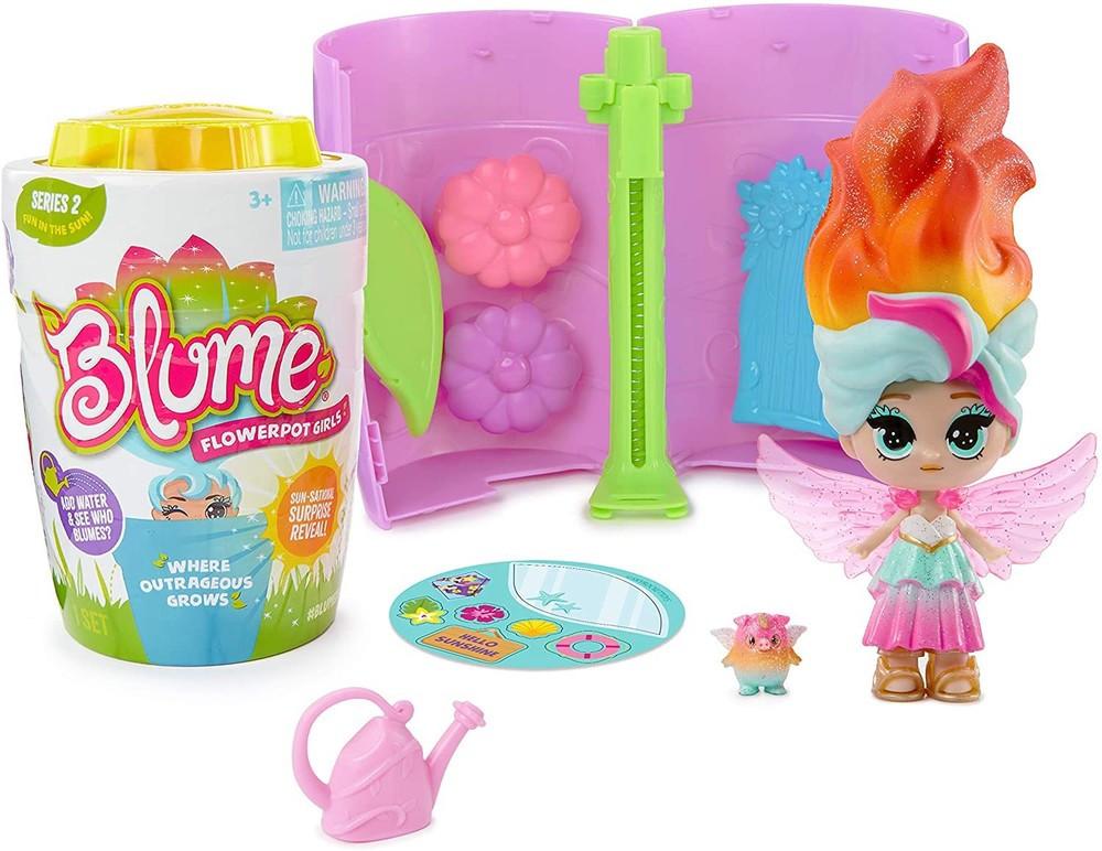 Кукла сюрприз солнечная blume doll в горшочке оригинал