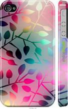 """Чехол на iPhone 4 Листья """"2235c-15-2448"""""""