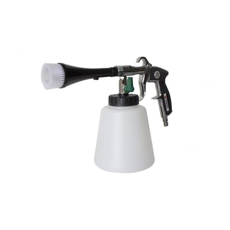 Пистолет пневматический ''Tornado''для химчистки салона а/м со сменной щеткой-насадкой( 1л ,6 bar, 120 л/мин)