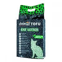 Наполнитель для кошачьего туалета AnimAll Tofu соевый с ароматом зеленого чая 2.6 кг/6л