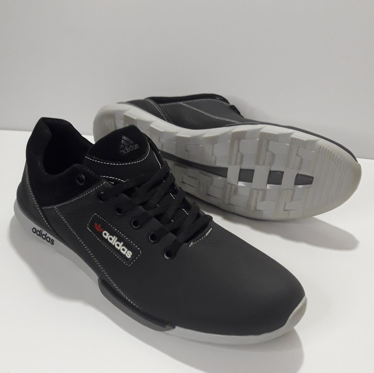 Кросівки Adidas р. 45 шкіряні Харків темно-сині