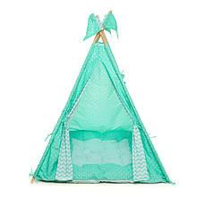 Вигвам шалаш для детей палатка детская игровая для дома Kospa Бирюза