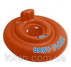 Пліт надувний Пліт помаранчевий 76 см, Дитячий поплавок Intex 56588